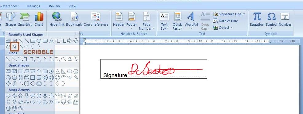 word signature
