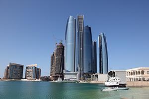 阿拉伯联合酋长国阿布扎比的摩天大楼