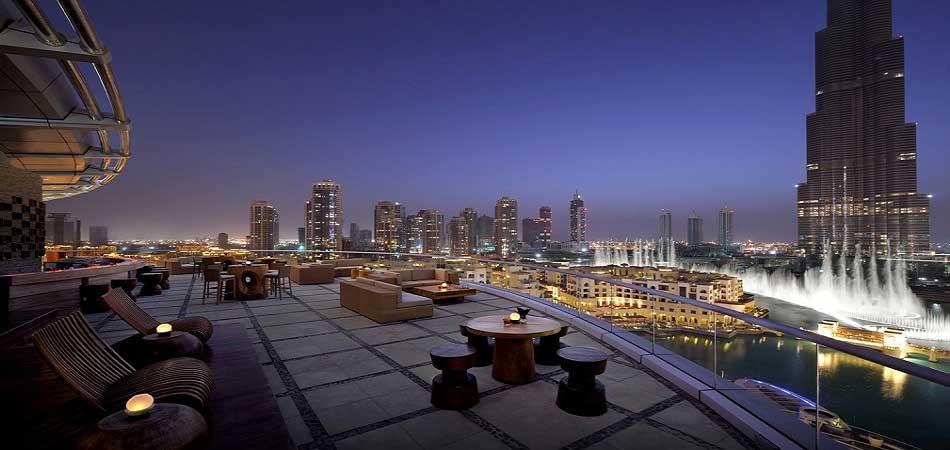 Dubai skyline at twilight