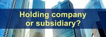 Do you want a holding or a subsidiary company?