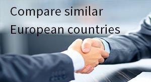 Compare similar European countries