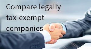 Compare legally tax-exempt companies