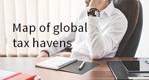 Map of global tax heavens