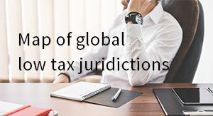 Map of global low tax jurisdictions