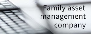 Family asset management company cover