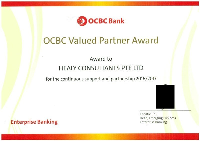 certificate for hc from OCBC
